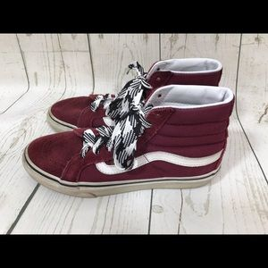 Vans - high top burgundy shoes-  Size 7